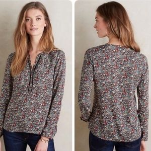 Anthropologie Meadow Rue Luana Floral Blouse